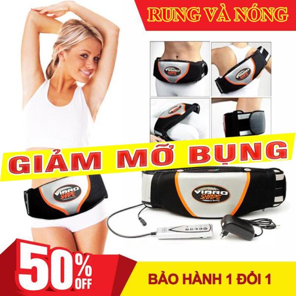 đai massage bung rung và nóng,Đai massage toàn thân - Máy massage lưng, giảm mỡ hiệu quả - Máy Massage nóng và rung Vibro Shape. Đánh tan mỡ bụng nhanh chóng giảm béo hiệu quả nhanh chóng.