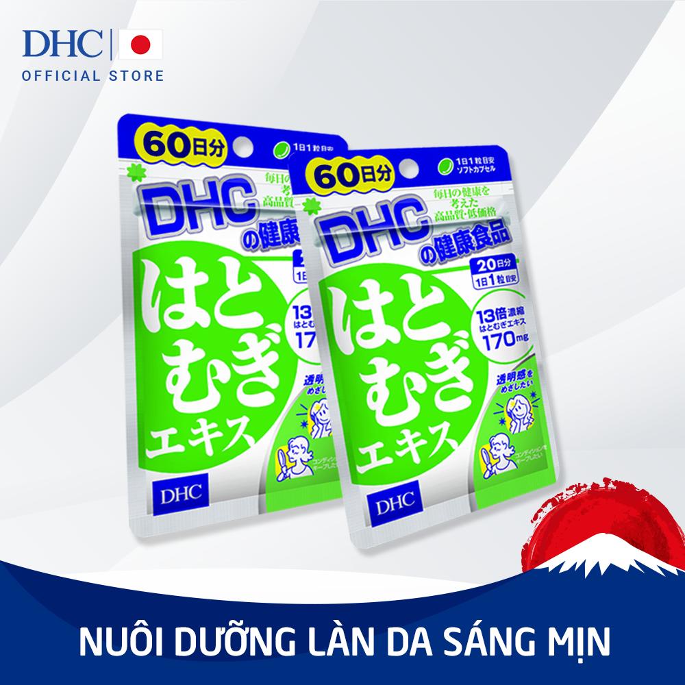 Viên uống Trắng da DHC Adlay Extract Gói 60 Ngày nhập khẩu
