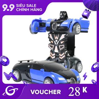 Mô hình xe ô tô biến hình robot 2 trong 1 dành cho trẻ em Dece Flor - INTL thumbnail