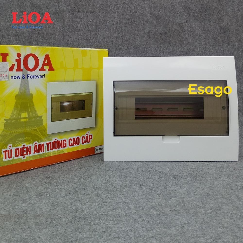 Tủ điện âm tường LiOA chứa 6 cầu dao đôi hoặc 12 cầu dao đơn