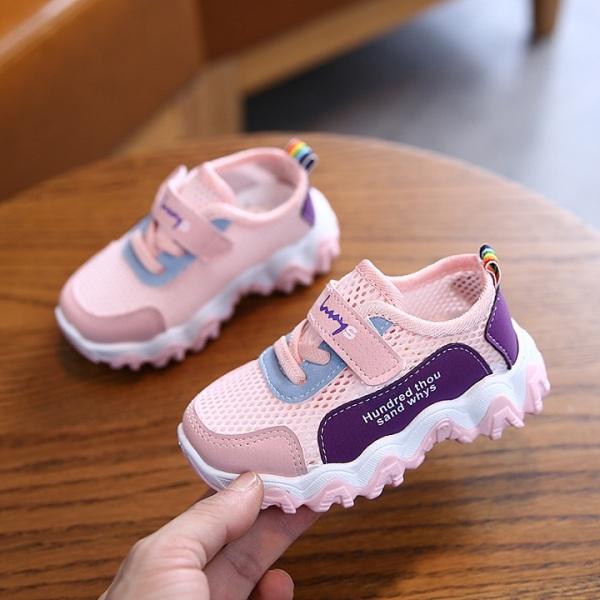 Giá bán HOT TREND 2020 Giày bé gái thể thao siêu thoáng khí dành cho bé 1-8 tuổi