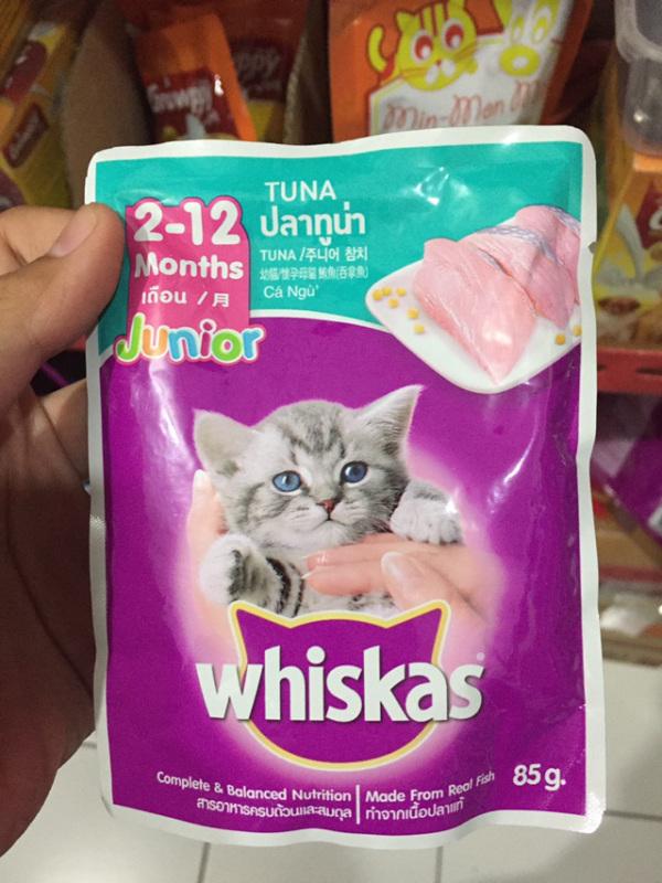 24 gói pate Whiskas 85g - JUNIOR cá ngừ Mèo con