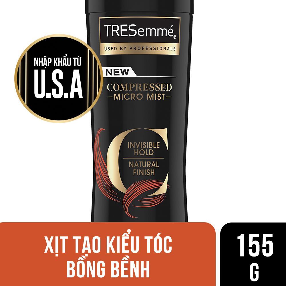 Xịt tạo kiểu tóc giữ độ phồng TRESemme Compressed Micro Mist 155g