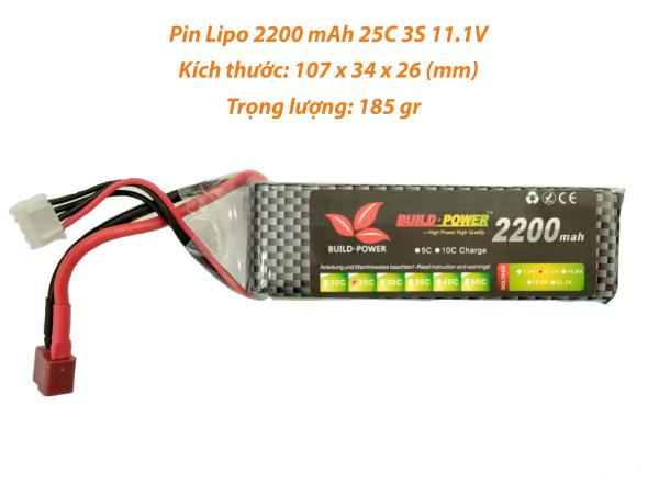 PIN lipo 2200 mAh 11.1V 25C 3S