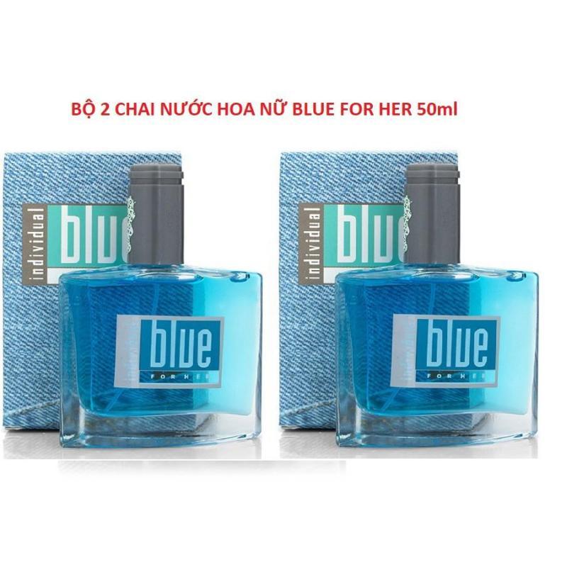bô 2 chai Nước hoa nữ Blue Avon For Her chiết xuất từ hoa hồng