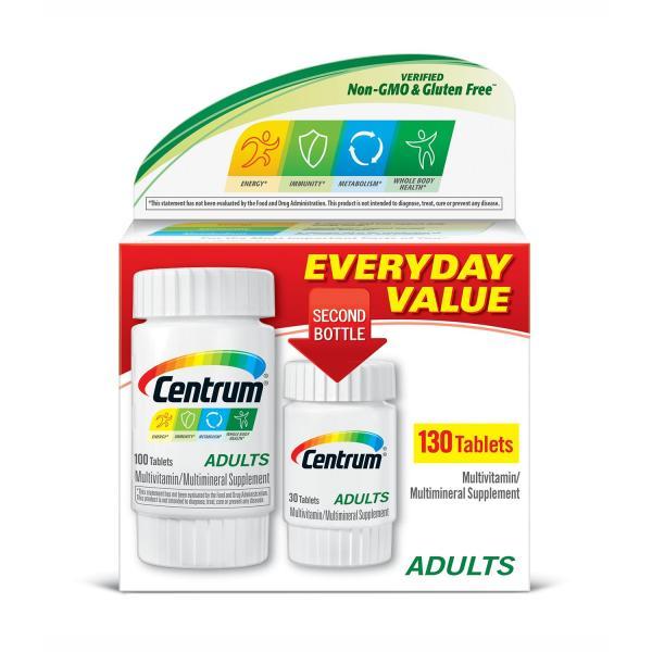 Viên uống bổ sung các vitamin và khoáng chất   dành cho nam và nữ dưới 50 tuổi ( 2 hộp ) Centrum