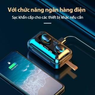 Tai Nghe Bluetooth Nhét Tai Pin Trâu 3500 maH Micro HD, Chống Nước - Tai Nghe Bluetooth 5.0 - Tai nghe bluetooth pin trâu - Tai nghe nhét tai không dây bluetooth, Tai nghe bluetooth không dây pin trâu 8