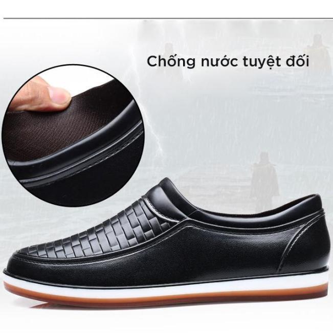 Giày lười nam DOL New 2020 Đi mưa chống nước và không nhàu phong cách giày nam đẹp công sở, dạo phố cá tính giá rẻ