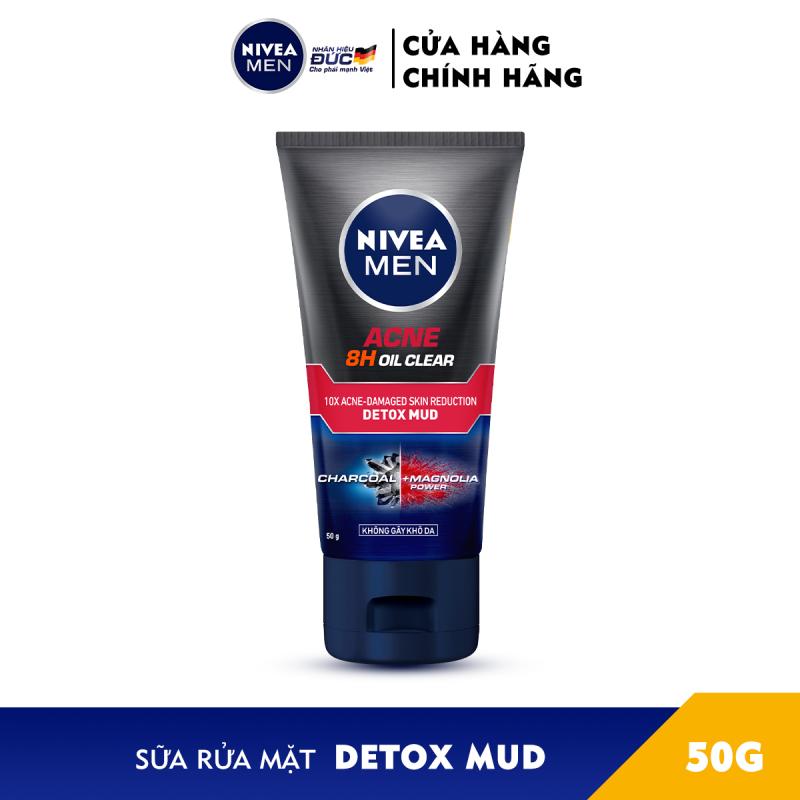 Combo 2 Sữa rửa mặt Ngừa mụn Sạch sâu NIVEA MEN Himalaya Deep Rapid Acne Oil Clear (100g) - 88521