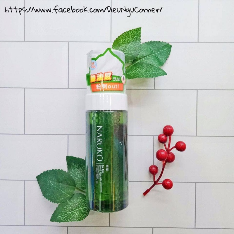 Tẩy Trang Dạng Bọt Naruko Kiêm Rửa Mặt Tea Tree Blemish Clear Make-up Removing Cleansing Mousse 150ml cao cấp