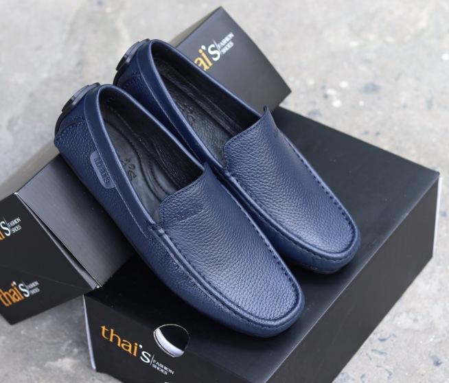 Giày mọi nam da bò thật - Giày Thái Lan - Giày da công sở, giày nam đẹp TH03 giá rẻ