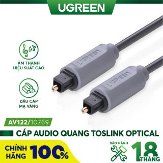 Dây audio quang (Toslink Optical) dài 1.5M UGREEN AV122 10769 (xám) - Hãng phân phối chính thức. thumbnail