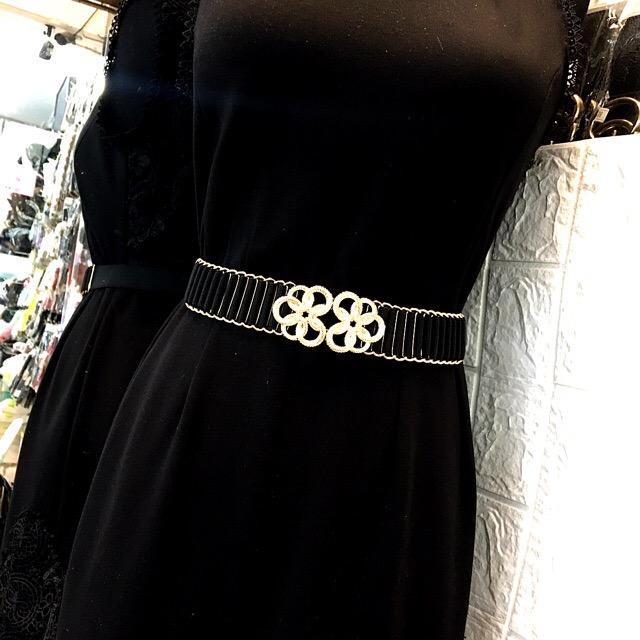 thắt lưng nữ:chun co giãn,bản 3cm,mặt hoa(DLVYD0)