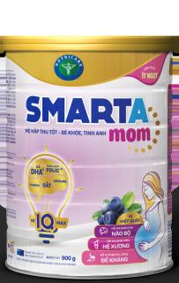 Sữa bột Nutricare Smarta Mom vị việt quất - công thức ít ngọt (900g) thumbnail