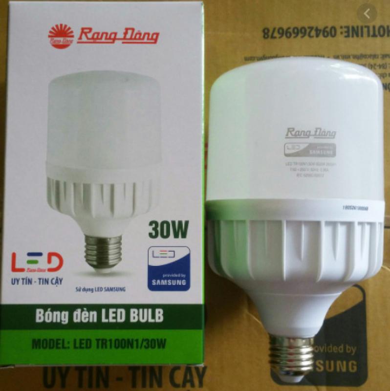 Bóng đèn LED TRỤ 30W RẠNG ĐÔNG Siêu Sáng TR100N1/30W ánh sáng trắng