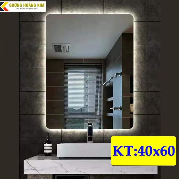Gương hoàng kim gương đèn led cảm ứng 3 chạm + phá sương  chữ nhật tràn viền HK-3012V