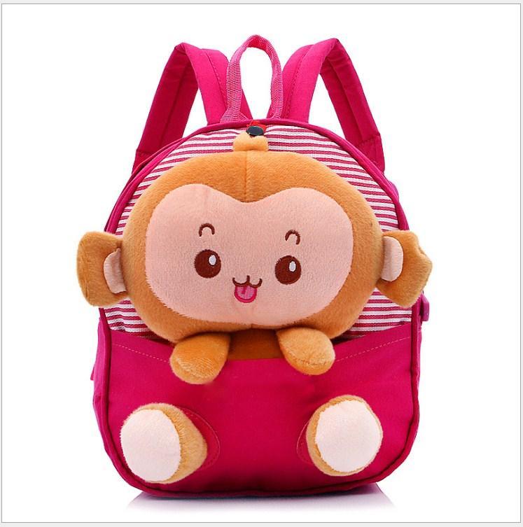 Ba lô đi học cho bé 2-4 tuổi. Ba lô hình chú khỉ ngộ nghĩnh, đáng yêu