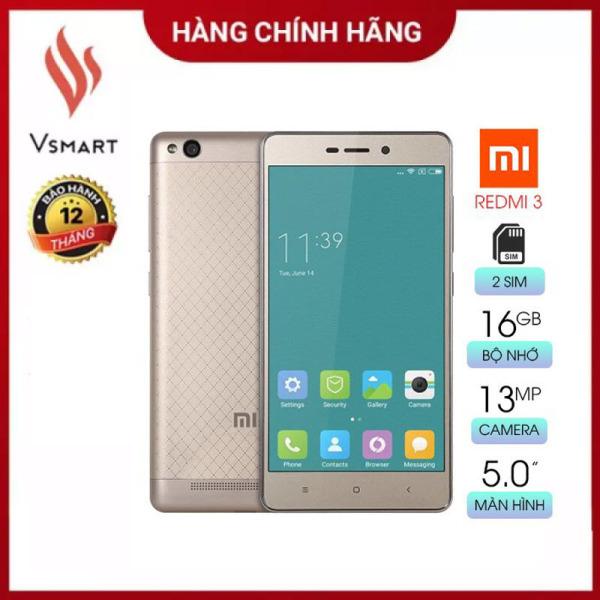 [Rẻ Hơn Hoàn Tiền] Điện thoại giá rẻ Xiaomi Redmi 3 (2GB/16GB) [Like New] Màn hình cảm ứng FullHD 5inch - 2 SIM - Hàng Chính Hãng