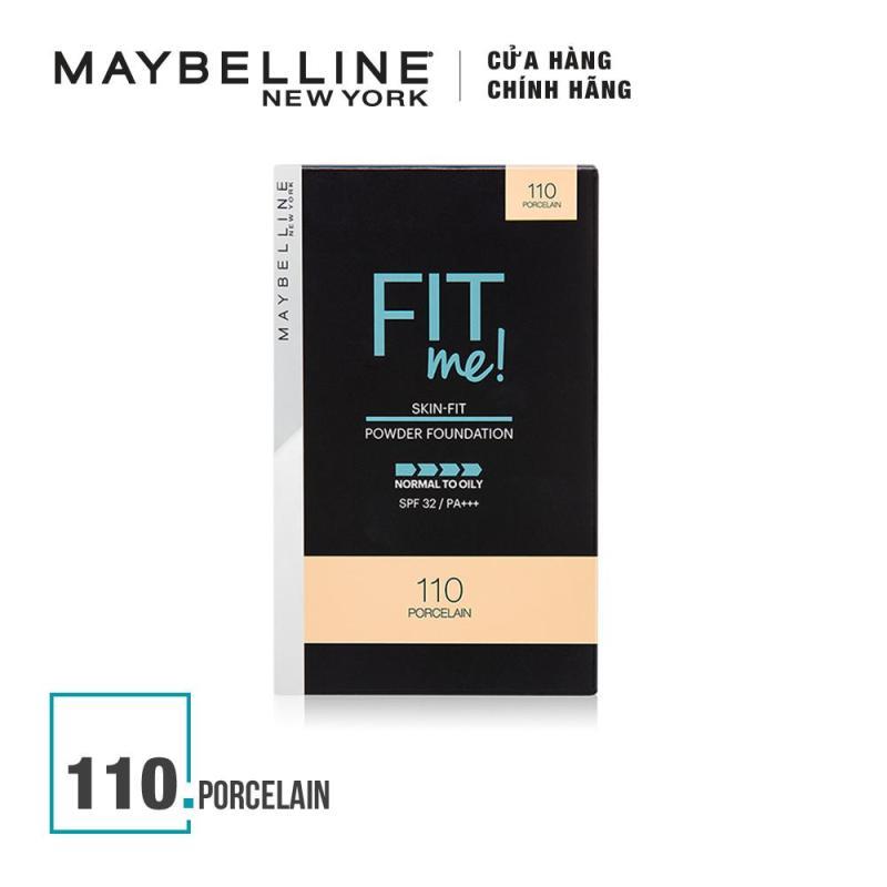 Phấn nền mịn lì tiệp màu da Maybelline New York Fit Me Skin-fit Powder Foundation 9g nhập khẩu