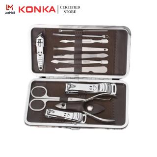 Bộ dụng cụ cắt móng 7-12 món chăm sóc cá nhân bảo vệ móng tay chất lượng kèm hộp đựng dễ thương thumbnail