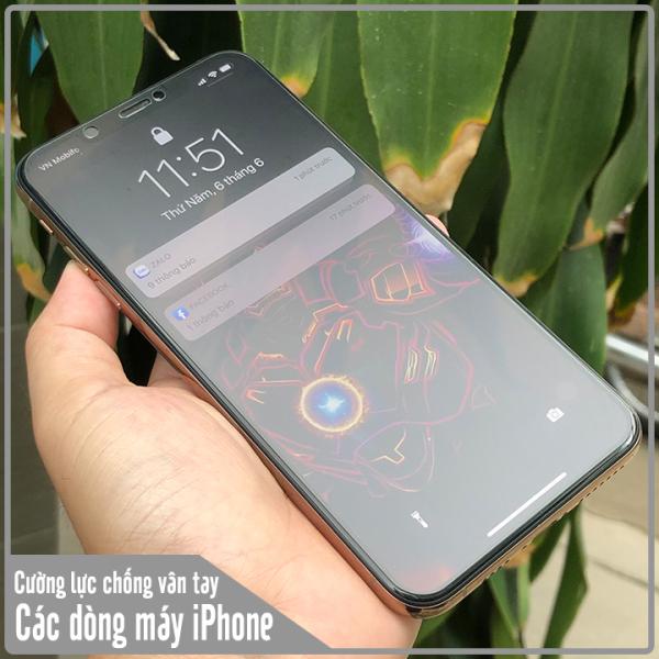 kính cường lực nhám chống bám vân tay chuyên chơi game full màn hình chống bám vân tay cho iphone 6Plus 6SPlus 6 6s 7 plus 8 plus X Xr Xs Xsmax 11 Pro 11 Pro Max - Vien Thong HN