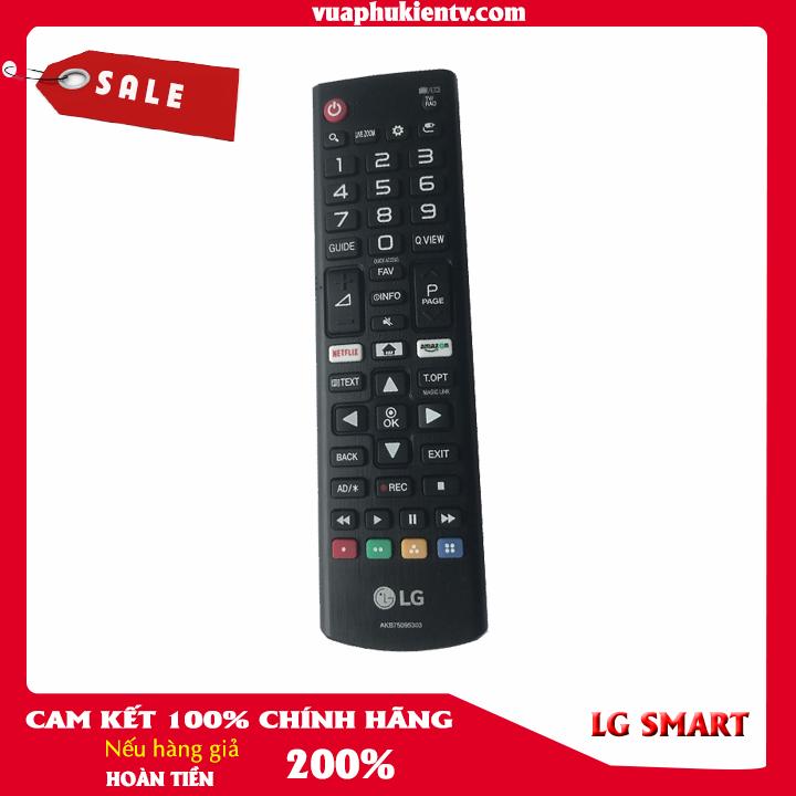 Điều Khiển Remote Tivi LG Smart CHÍNH HÃNG Màu đen Phím Tắt Netfix Và Amazon Dùng được Cho Tất Cả Tivi LG Giảm Cực Sốc