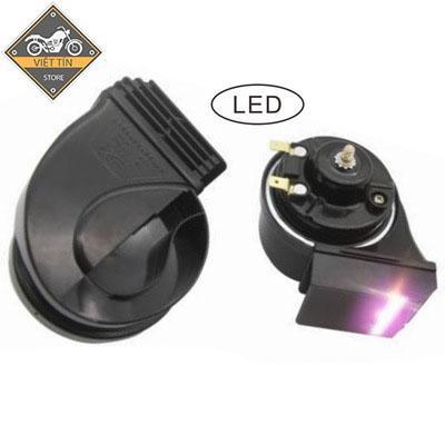 Còi ốc sên có đèn Led gắn xe máy, ô tô P24- Kmart Nhật Bản