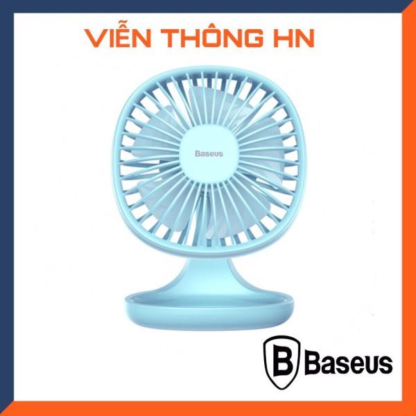 Quạt máy điện mini di động baseus ventiladors usb mijia quạt cực êm cực mát cho mùa hè với 5 cánh quạt để bàn văn phòng