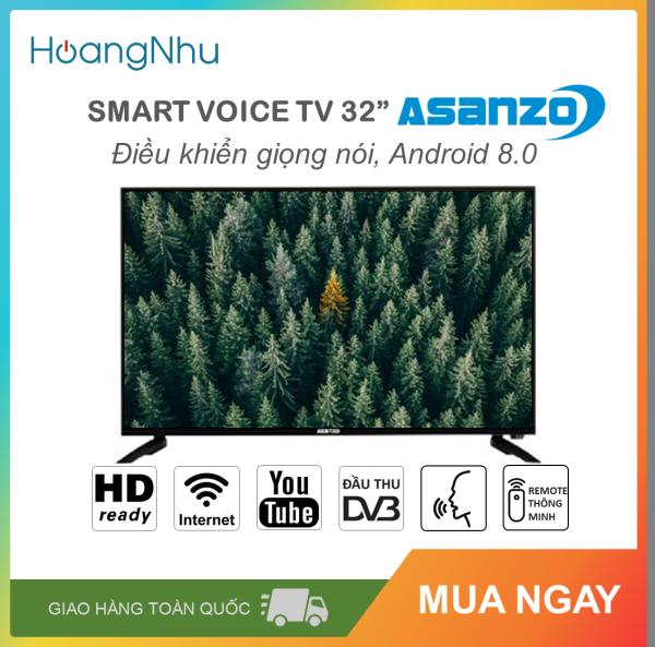 Bảng giá Smart Voice Tivi Asanzo 32 inch Kết nối Internet Wifi và điều khiển giọng nói MODEL 32S53 (HD Ready, Android 8.0, Điều khiển giọng nói, Remote thông minh, Truyền hình KTS, màu đen)