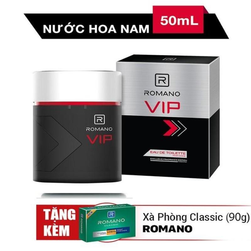 Nước Hoa Cao Cấp Cho Nam Romano Vip 50ml+Tặng Xà bông Romano 90gr