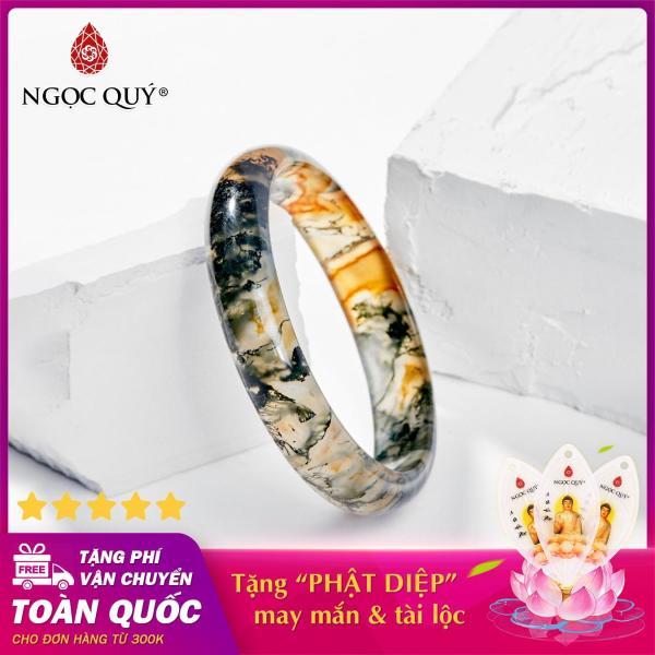 Vòng tay phong thủy đá băng ngọc thủy tảo huyết Ni 52 - 58 mệnh hỏa, mộc (màu xanh rêu) - Ngọc Quý Gemstones