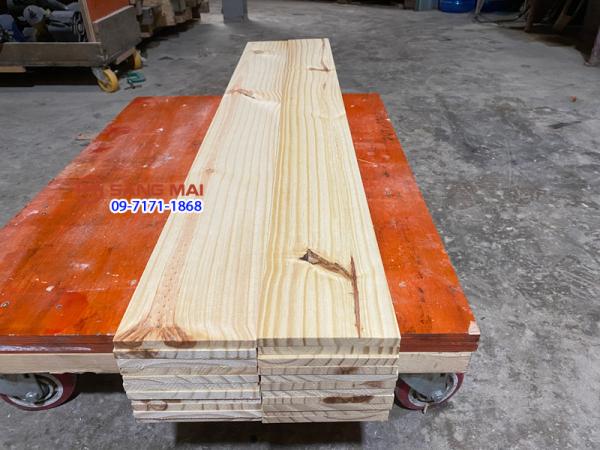 [MS72] - Tấm gỗ thông mặt rộng 13cm x dày 1cm x dài 120cm + láng mịn 4 mặt