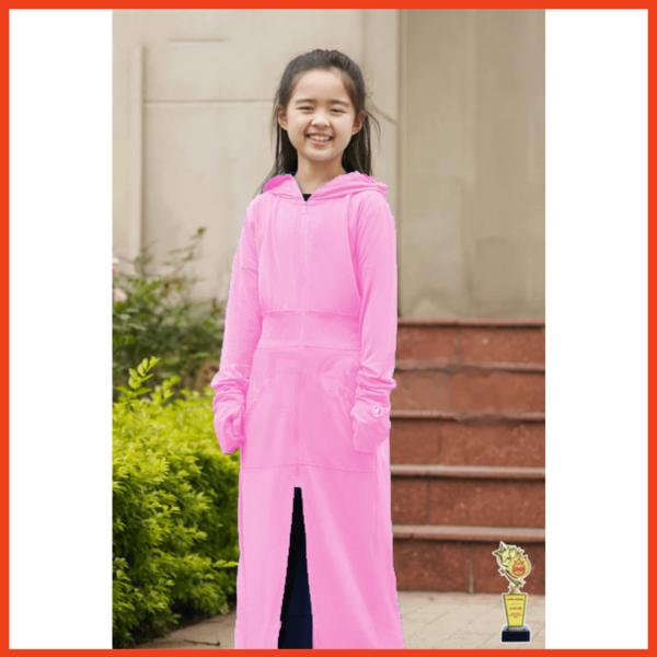 Giá bán Áo Khoác Chống Nắng Bé Gái toàn thân từ 10 đến 40kg MaMa & Kids vải mềm mịn, chống tia UV