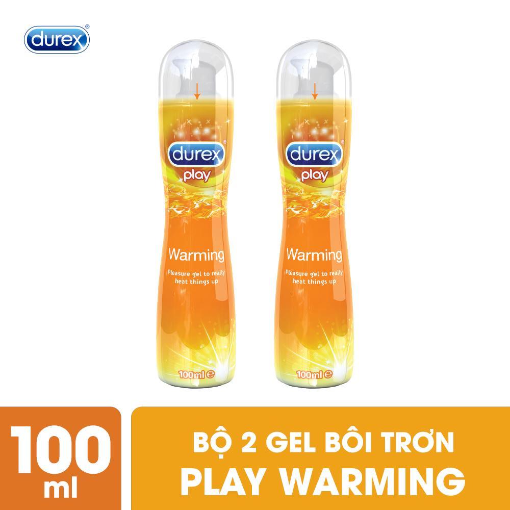 Bộ Gel Bôi Trơn Durex Warming 2 Chai 100ml nhập khẩu