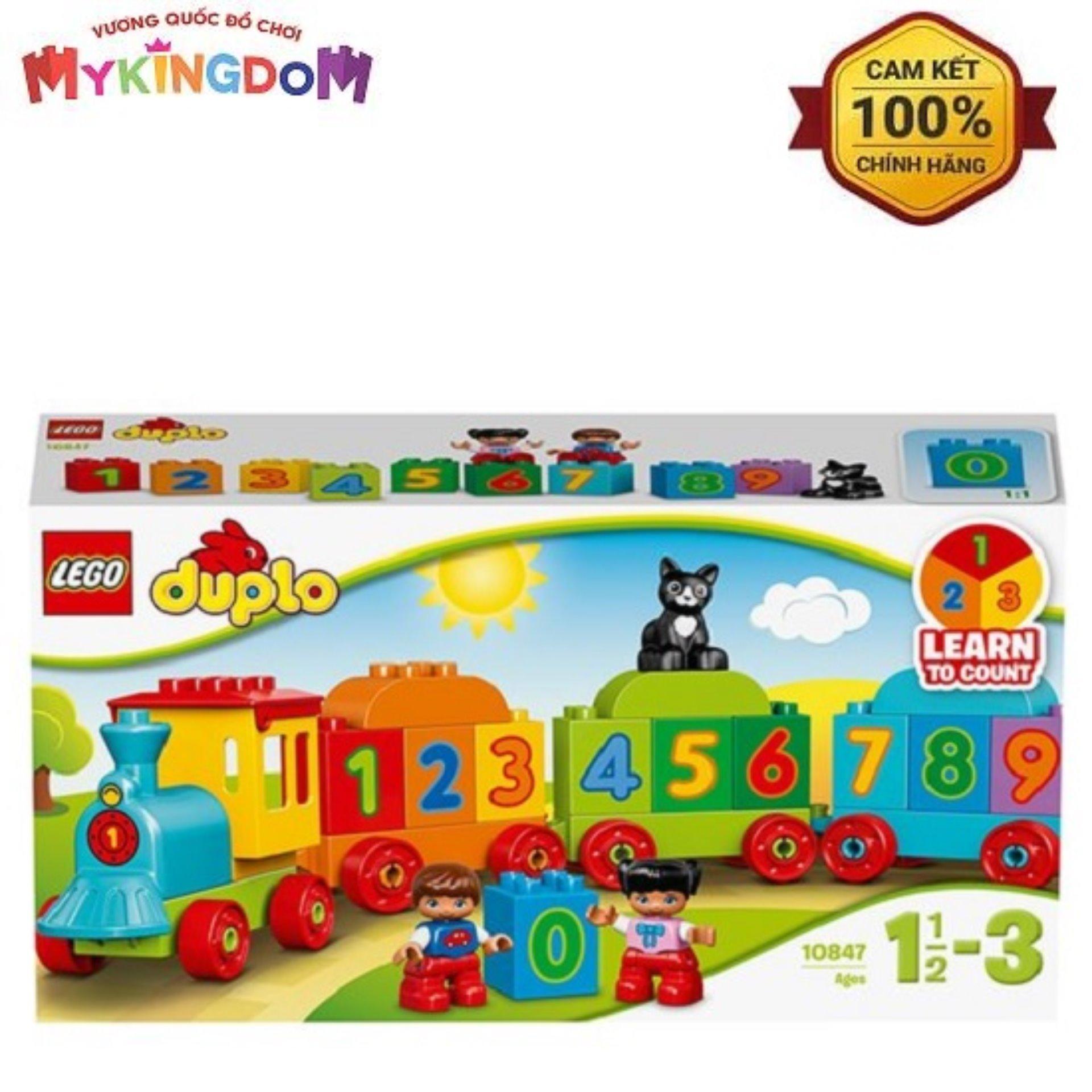 Siêu Tiết Kiệm Khi Mua Hộp LEGO Duplo Tàu Lửa Học Số Mới 10847 (23 Chi Tiết)