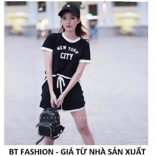 Đồ Bộ Ngủ Mặc Nhà Áo Thun Nữ + Quần Đùi Sọt Thể Thao Thời Trang Mới - BT Fashion (ĐN1-NY) thumbnail