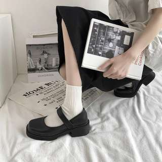 Vintage Mary Janes Giày Nữ Giày Nữ Giày Đi Học Giày Búp Bê Cho Nữ Giày Đế Bằng Ba Lê Cho Nữ Giảm Giá 122104
