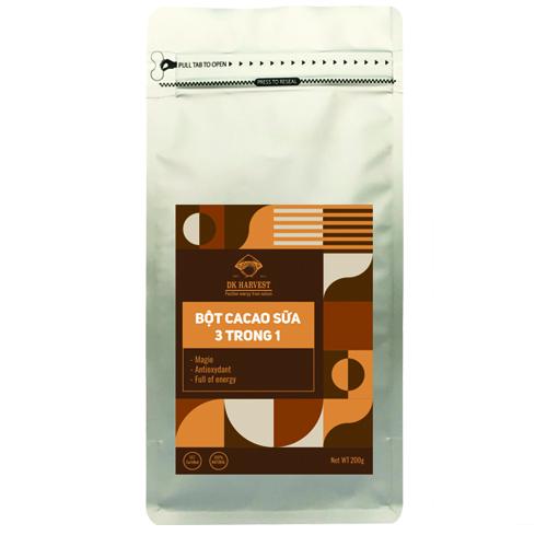 Mã Giảm Giá tại Lazada cho Bột Cacao Sữa 3 Trong 1 DK Harvest -  200g