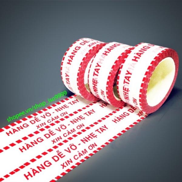 Mua [Combo 6 cuộn] Băng dính in chữ Hàng Dễ Vỡ,băng keo Niêm Phong hàng hóa