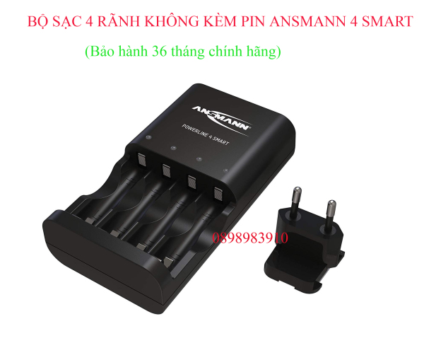Bộ sạc pin AA - AAA ANSMANN POWERLINE 4 Smart