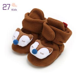 XENBEA Giày Cho Bé Sơ Sinh Hình Động Vật Hoạt Hình Dễ Thương, Giày Trẻ Tập Đi Vải Bông Mềm Mại Ấm Áp