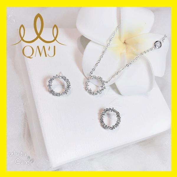 Bộ bạc QMJ Huyền thoại biển xanh nạm đá tấm đẹp, xu hướng hottrend 2020, bộ thời trang nữ đẹp  [BẠC CHUẨN] QB022