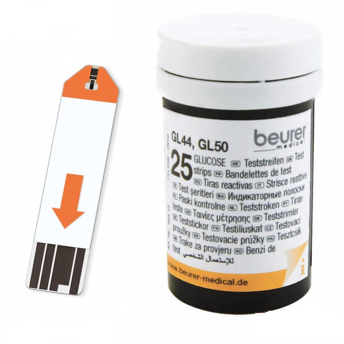 Lọ 25 que thử đường huyết Beurer GL50