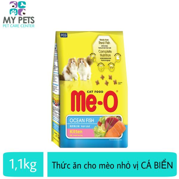 Thức ăn hạt khô dành cho mèo con hương vị cá biển - Me-o Ocean Fish Túi 1.1kg