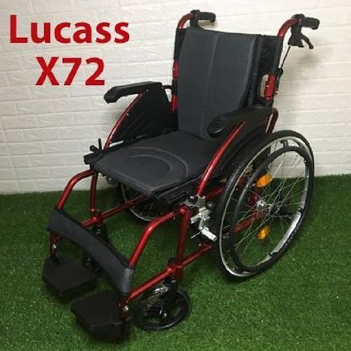 Xe lăn hợp kim nhôm kiểu dáng mạnh mẽ Lucass X72 nhập khẩu