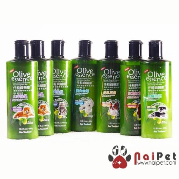 Sữa Tắm Chiết Xuất Olive Cho Chó Mèo Olive Essence Chai 450g
