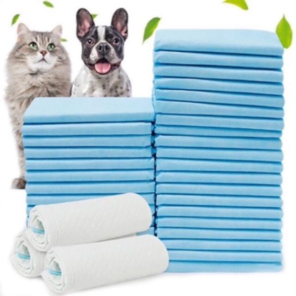 Tã Lót Cho Chó Mèo Đi Vệ Sinh Vào Khay, Chuồng Bằng Giấy Siêu Thấm Hút, Tấm Thấm Hút Nước Tiểu Chó Mèo