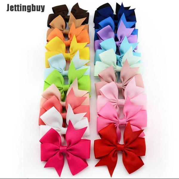 Jettingbuy 20 Cái Bán Buôn Kẹp Tóc Nơ Trẻ Em Bé Gái Kẹp Tóc Nơ Barrette