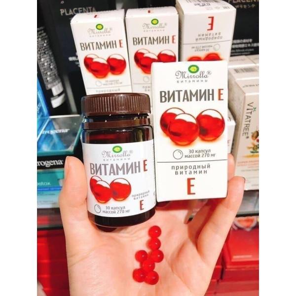 Vitamin E đỏ của Nga 270mg - TRONG UỐNG NGOÀI THOA - MUỐN GIÀ CŨNG KHÓ