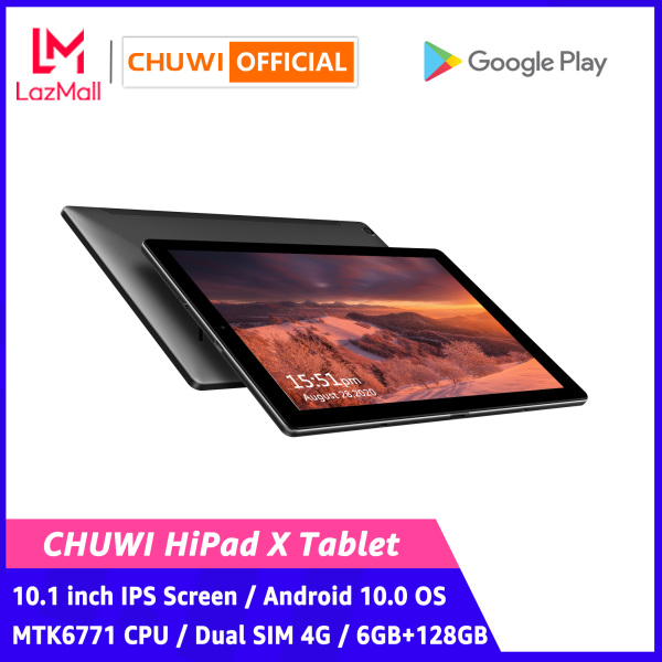 CHUWI Official Hipad X Android 10.0 OS Tablet | 10.1 inch Helio MT6771 Octa Core LPDDR4X 6GB 128G UFS 2.1 | Dual Sim 4G LTE gps Network 2.4/5G Wifi 1 Year Warranty Android Tablet